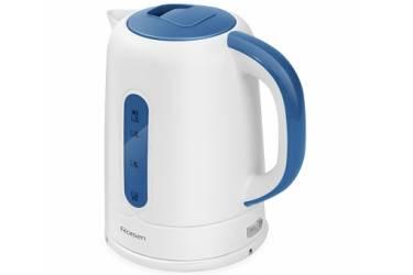 Чайник электрический Rolsen RK-2723P 1.7л. 2200Вт белый/синий (корпус: пластик)