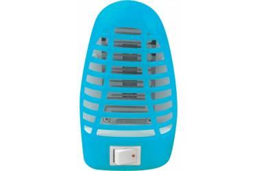 Светильник-ночник москитный NLM 01-MB синий с выключателем 230В IN HOME