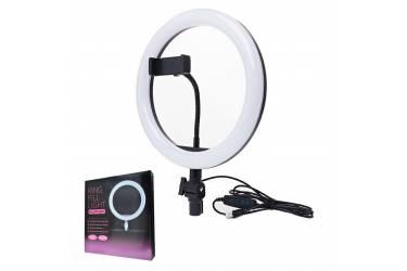 Кольцевая лампа ZD666, с держателем для телефона, диаметром 26 см