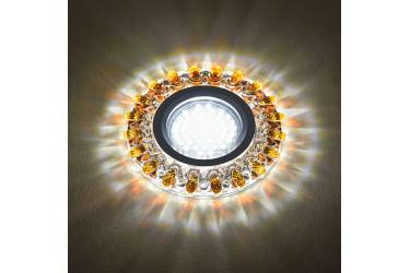 Светильник точечный Uniel DLS-L148 GU5.3 GLASSY/GOLD без лампы