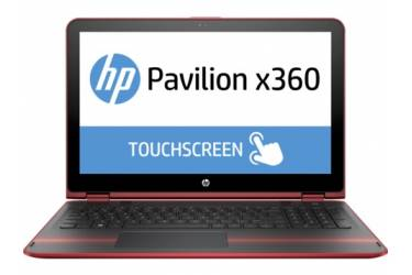 "Трансформер HP Pavilion x360 15-bk101ur Core i3 7100U/8Gb/500Gb/SSD8Gb/Intel HD Graphics 620/15.6""/Touch/FHD (1920x1080)/Windows 10 64/red/WiFi/BT/Cam"