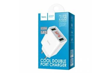 CЗУ Hoco C25A Cool LED 2USB 4.4A белый