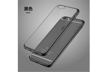Силиконовый чехол iPhone 7 с Чёрной зеркальной рамкой
