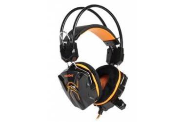 Наушники SmartBuy Rush Cobra накладные с микрофоном черные/оранжевые