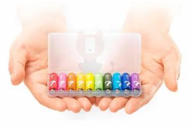 Батарейка Xiaomi ZMI ZI7 Rainbow AAA batteries LR-03 (10 Box)