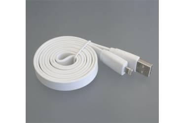 Кабель USB для Iphone плоский 5, 6s, 8 pin, 1м, белый