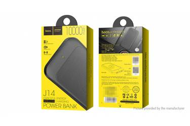 Внешний аккумулятор Hoco J14 с функцией беспроводной зарядки Graceful Energy Wreless 10000 mAh Black