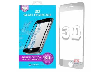 Защитное стекло 3D Krutoff Group для iPhone 7 (white)