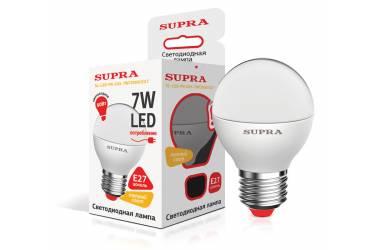 Лампа светодиодная SUPRA_PR_G45-07W/3000/E27 _шар _набор из 3-х ламп