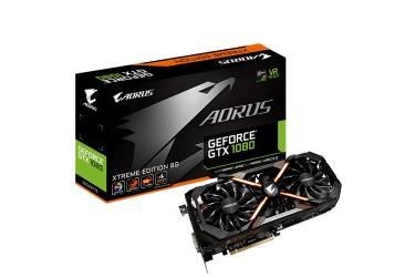 Видеокарта Gigabyte PCI-E GV-N1080AORUS X-8GD nVidia GeForce GTX 1080 8192Mb 256bit GDDR5X 1759/10400 DVIx1/HDMIx3/DPx3/HDCP Ret