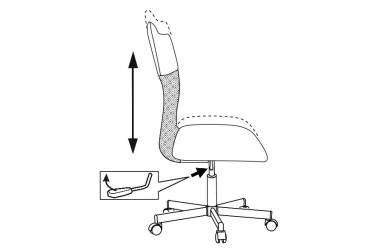 Кресло Бюрократ CH-1399/BLUE спинка сетка синий сиденье синий искусственная кожа крестовина металл