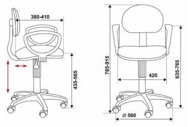 Кресло Бюрократ CH-213AXN/15-11 бордовый 15-11