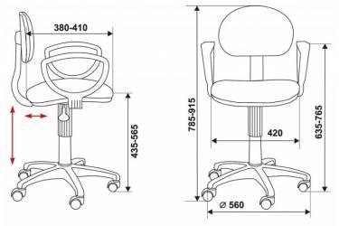 Кресло Бюрократ CH-213AXN/15-155 желтый 15-155
