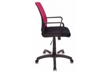 Кресло Бюрократ CH-498/CH/TW-11 спинка сетка бордовый сиденье черный TW-11