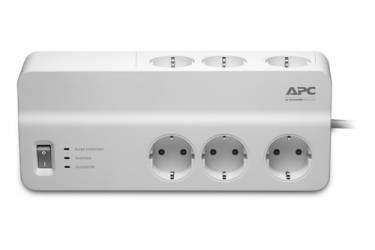 Сетевой фильтр APC PM6-RS 2м (6 розеток) белый