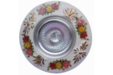 Светильник точечный_DE FRAN_ FT 815 MR16 хром+цветы керамика