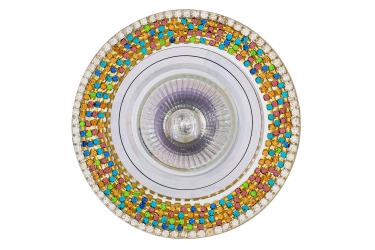 Светильник точечный_DE FRAN_ FT 514 MR16 хром зеркальный+стразы разноцветные