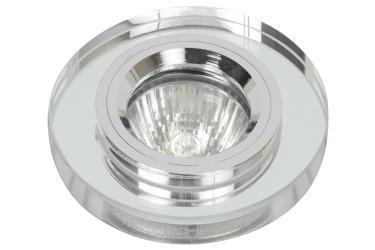 Светильник точечный_DE FRAN_ FT 885 MR16 зеркальный прозрачное стекло