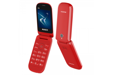 Мобильный телефон Maxvi E3 red