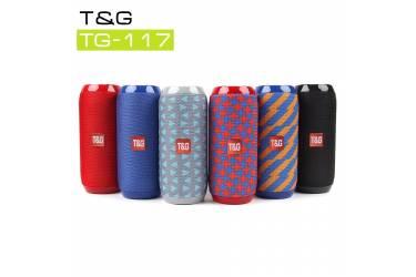 Беспроводная (bluetooth) акустика Portable TG117 (Синий + оранжевый)