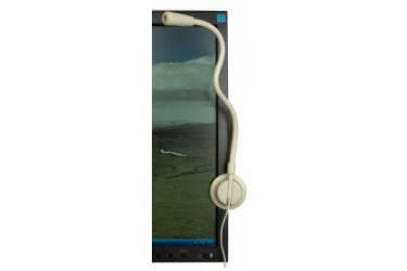 Микрофон проводной Oklick MP-M010 1.8м белый