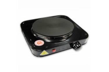 Плитка электрическая настольная IRIT IR-8004 (чёрная) блин 1 конфорка 1000Вт