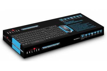 Клавиатура + мышь Oklick 200M клав:черный мышь:черный USB беспроводная