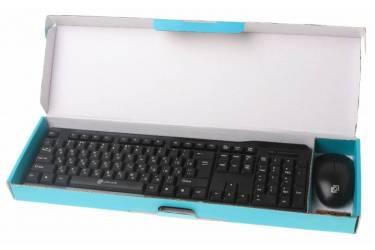 Клавиатура + мышь Oklick 230M клав:черный мышь:черный USB беспроводная
