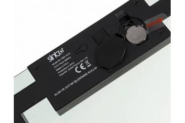 Весы напольные электронные Sinbo SBS 4414 макс.150кг серебристый/черный