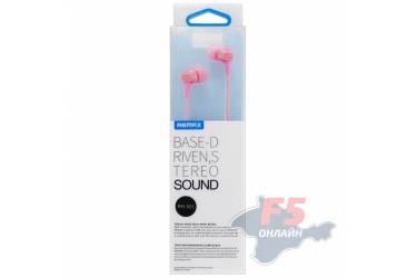 Наушники Remax RM-501 (pink) внутриканальные с микрофоном