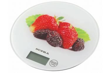 Весы кухонные электронные Supra BSS-4601 макс.вес:5кг белый/клубника