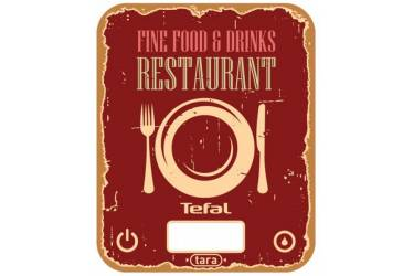 Весы кухонные электронные Tefal BC5104V1 макс.вес:5кг красный/рисунок