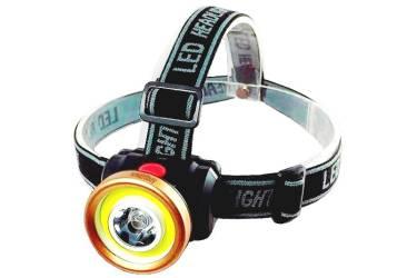 Фонарь SmartBuy налобный аккумуляторный светодиодный 1 Вт LED+ 3 Вт COB