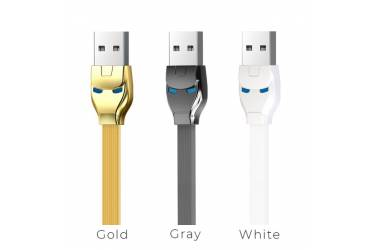 Кабель USB Hoco U14 Steel man type-c charging cable gray