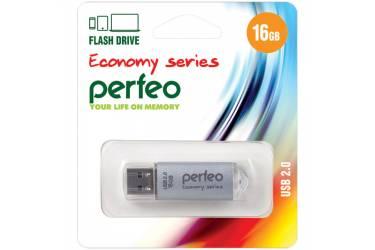 USB флэш-накопитель 16GB Perfeo E01 Silver economy series USB2.0