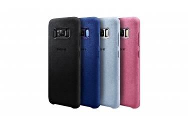 Оригинальный чехол (клип-кейс) для Samsung Galaxy S8+ Alcantara Cover голубой (EF-XG955ALEGRU)