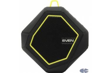Беспроводная (bluetooth) акустика Sven PS-77 Wateproof (IPx5) Черно-желтая