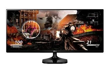 """Монитор LG 25"""" 25UM58-P черный IPS LED 21:9 HDMI матовая 250cd 2560x1080 FHD 4кг"""