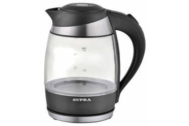 Чайник электрический Supra KES-2009 1.8л. 2200Вт черный (корпус: стекло)
