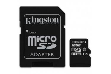 Карта памяти Kingston MicroSDHC 16GB Class 10 UHS-I (45MB/s) + adapter