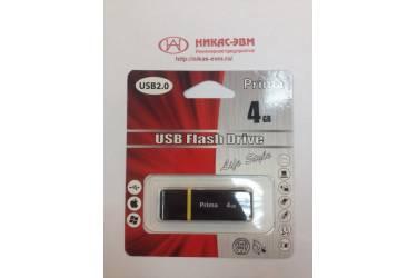 USB флэш-накопитель 4GB Prima PD-12 черный USB2.0