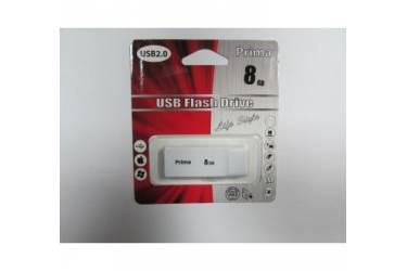 USB флэш-накопитель 8GB Prima PD-12 белый USB2.0