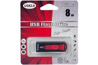 USB флэш-накопитель 8GB Prima PD-13 черный USB2.0