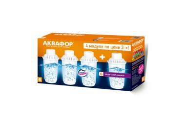 Комплект картриджей Аквафор B6 для кувшинов ресурс:300л (упак.:4шт)