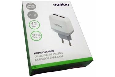 Cетевое зарядное устрйоство адаптер Melkin на 2 вх.5V=2.4A белый в уп.
