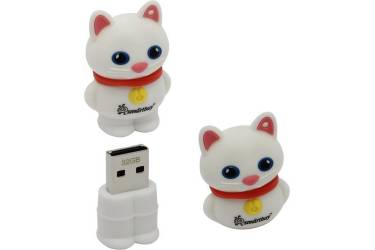 USB флэш-накопитель 32GB SmartBuy Wild series Котенок Белый USB2.0