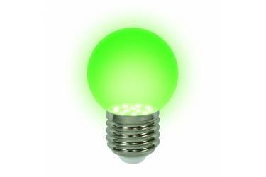 Лампа светодиодная UNIEL LED-G45-0,65W/GREEN/E27 декор зеленая
