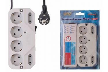 Сетевой фильтр Most СHV 5м (6 розеток) белый (коробка)