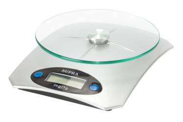 Весы кухонные электронные Supra BSS-4041 макс.вес:5кг серебристый