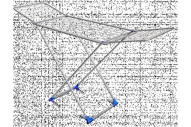 Сушилка для белья СБ1 металл(1815х540х1080мм) вес 3,3кг напольная складная серебро
